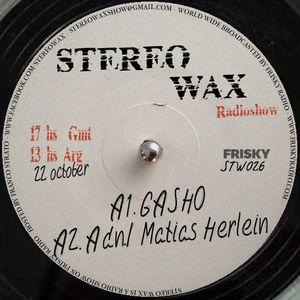 Gasho @ Stereo Wax Oct 22 2015