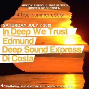 MoodyLushious Influences Episode 15 (July 2012 Edition) (Exclusive Guest Mix By DeepSoundExpress)