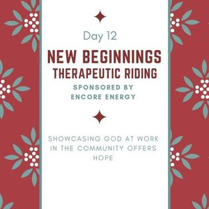 12 Days of Hope Podcast: Day 12 - New Beginnings Therapeutic Riding