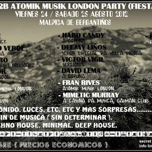 LOREN CASTRO 52 TECHNO PROMO@FREESOUND B2B ATOMIK MUSIK LONDON PARTY.