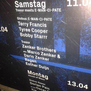 E.Man.Ci.Pate @ Tresor - Tyree Cooper & Bobby Starrr Live - April 11 2015 PART1