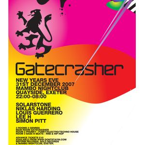 Simon Pitt Live @ Gatecrasher NYE 2007 Mambo Nightclub, Exeter, UK