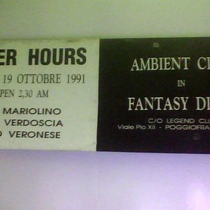 Mariolino After Hours ambient club e fantasy disco