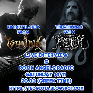 Mutilator & Therthonax live interview @ Rock Angels Radio