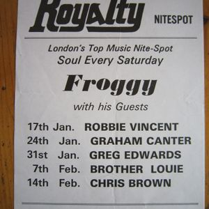 Froggy & Greg Edwards + P A by Central Line Live at the Royalty Saturday 31st January 1981