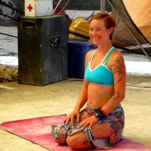 Burning Man 2014, Thursday Yoga Class with Teacher Emily Kasman