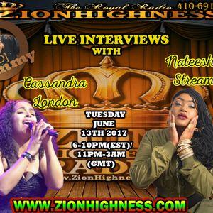 NATEESHA STREAM LIVE INTERVIEW WITH DJ JAMMY ON ZIONHIGHNESS RADIO 061317