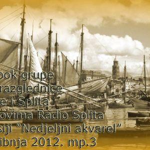 Nedjeljni akvarel Radio Splita - FB grupe Stare razglednice Korčule i Splita