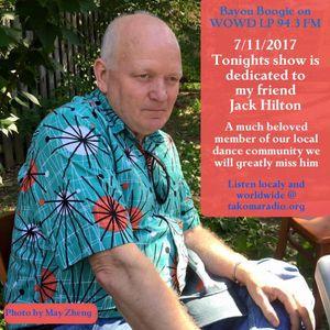 Bayou Boogie July 11,2017 A show for Jack Hilton