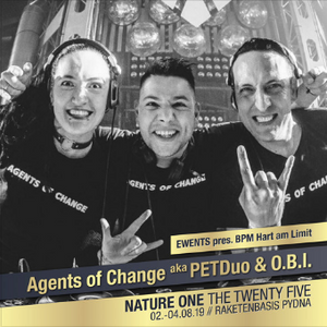 Agents Of Change (O.B.I. + PETDuo) @ Nature One Festival, Germany, 2019