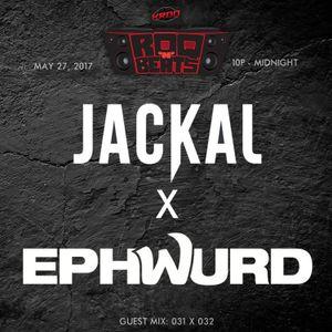 ROQ N BEATS - DJ JEREMIAH RED 5.27.17 - GUEST MIX: JACKAL + EPHWURD - HOUR 2