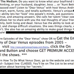 Venus Talks to Your Body