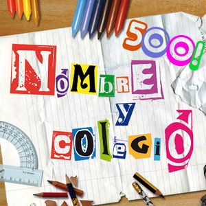 Nombre y Colegio - 31/08/2012