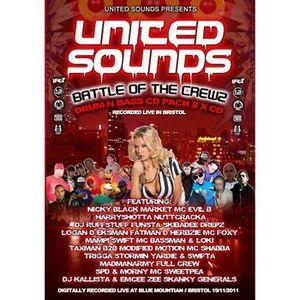 Nicky Blackmarket with MCs Evil B, Harry Shotta, Nutcracka @ United Sounds Battle Of The Crews 2011