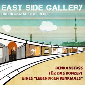 Denkanstoß für das Konzept eines 'lebendigen Denkmals' East Side Gallery - Sprecherin: Carola Ludwig