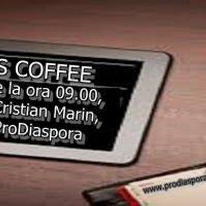 """Emisiunea """"News Caffe"""" de azi 3 ianuarie 2015 cu Cristi la Radio Pro Diaspora"""