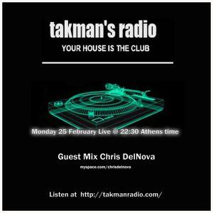 Guest Mix by Chris DelNova @ Takman's radio (25.02.2013)
