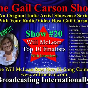 The Gail Carson Show #20 - Top 10 Finalists of the Will McLean Best New Florida Song Contest