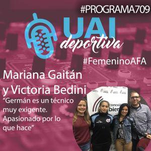Mariana Gaitán y Victoria Bedini en el Programa 709 de UAI Deportiva