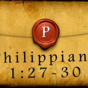 Philippians 1:27-30 - Audio