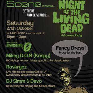 DJ Simm @ Scene 'Night Of The Living Dead'