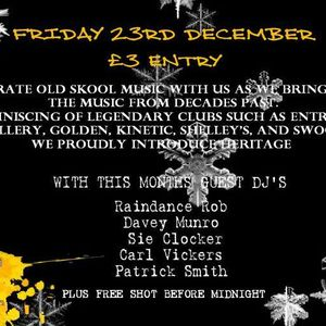 Tony Clarke, Raindance Rob & MC Shock C - Heritage - The Christmas Special - 23rd December 2011