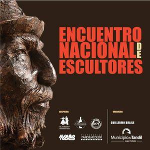 Guillermo Braile Organizador del Encuentro Nacional de Escultores y el Escultor José Araolaza