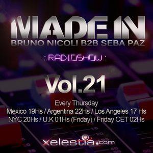 Bruno Nicoli & Seba PAz - Made In B2B RadioShow - Vol 021