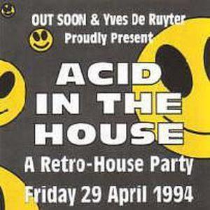 """Resident DJ Team (pt 1) at """"Acid In The House"""" @ Cherry Moon (Lokeren - Belgium) - 29 April 1994"""
