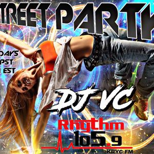DJ VC - STREET PARTY - RHYTHM 105.9 FM KRYC FM 10-14-17