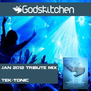 Godskitchen Jan 2012 Tribute Mix - Tek-tonic