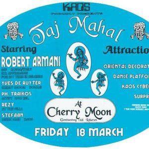 "Yves De Ruyter at ""KAOS Taj Mahal"" at Cherry Moon (Lokeren - Belgium) - 18 March 1994"