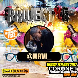 #ProjectX5 - Throwback RNB Mix - Friday 7th July 2017 @ Coronet Mixed By @DJJTK_1@MrVI_
