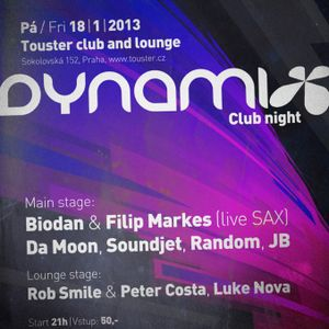 Luke Nova - Dynamix @ Touster Lounge stage  warm up set 18.1.2013