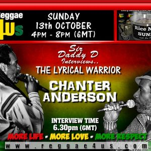 SIR DADDY D INTERVIEWS CHARNTER ANDERSON  ON WWW.REGGAE4US.COM