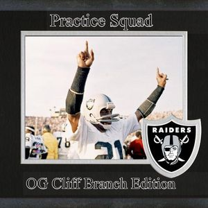 Practice Squad - Silver & Black: (Oakland Raiders OG Cliff Branch