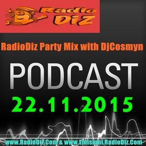 Radio Diz Party Mix cu Dj Cosmyn Ed.18(22.11.15)
