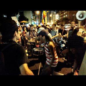 No nukes demo around the Premier's residence Tokyo Sep 7, 2012.