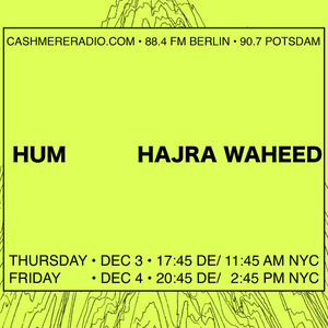 INFO Unltd with Hajra Waheed on 'Hum' and Abolitionist Modes of Listening