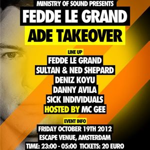 Danny Avila - Live @ Takeover, Escape Venue, Amsterdam Dance Event, Amsterdão, Holanda (19.10.2012)