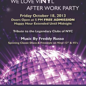 """We Love Vinyl - After Work Party"" Preview 80's Organic Mix"