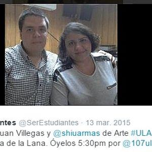 Ser Estudiantes 20-11-15 / Juan Villegas y Shiu Armas (Facultad Arte) hablan de la Ruta de la Lana