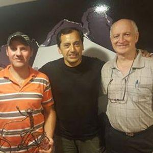 Gustavo Martinez, acompañado por el Sr Amilcar Poletti y Alberto Sarasibar quien realizó la esc