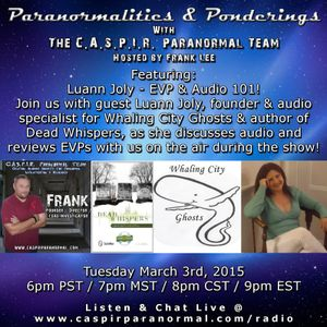 Paranormalities & Ponderings Radio featuring Luann Joly - EVP & Audio 101!