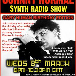 "RW084 - THE JOHNNY NORMAL ""GARY NUMAN SPECIAL"" SYNTH RADIO SHOW - RADIO WARWICKSHIRE - 8 MARCH  2017"