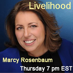 """Livelihood Show's guest Michael Dobson with Host Marcy Rosenbaum"
