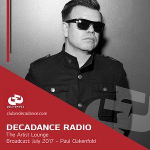 The Decadance Artist Lounge - Paul Oakenfold - 2017
