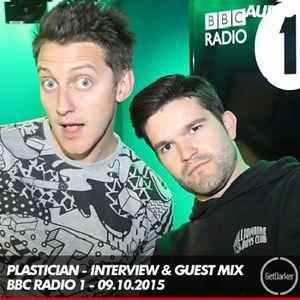 Plastician - Radio 1 Guest Mix & Interview - 09.10.2015