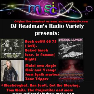 DJ Readmans Variety Show: 68 75, Zone Tripper, Naked Lunch, Maini Sorri and more