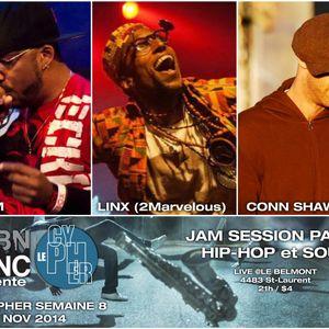#LECYPHER WEEK 8 2014/11/27 // X-WAM + LINX + CONN SHAWNERY // hip-hop & soul jam session